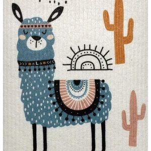 Other - 4 Llama Dishcloths   Paper Towel Replacement